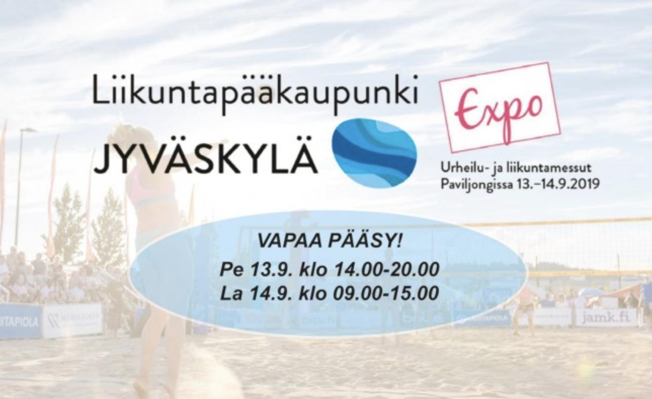 Ilmoittautumistarjous (-50%) Expo-messuilla 13.9-14.9. Jyväskylässä