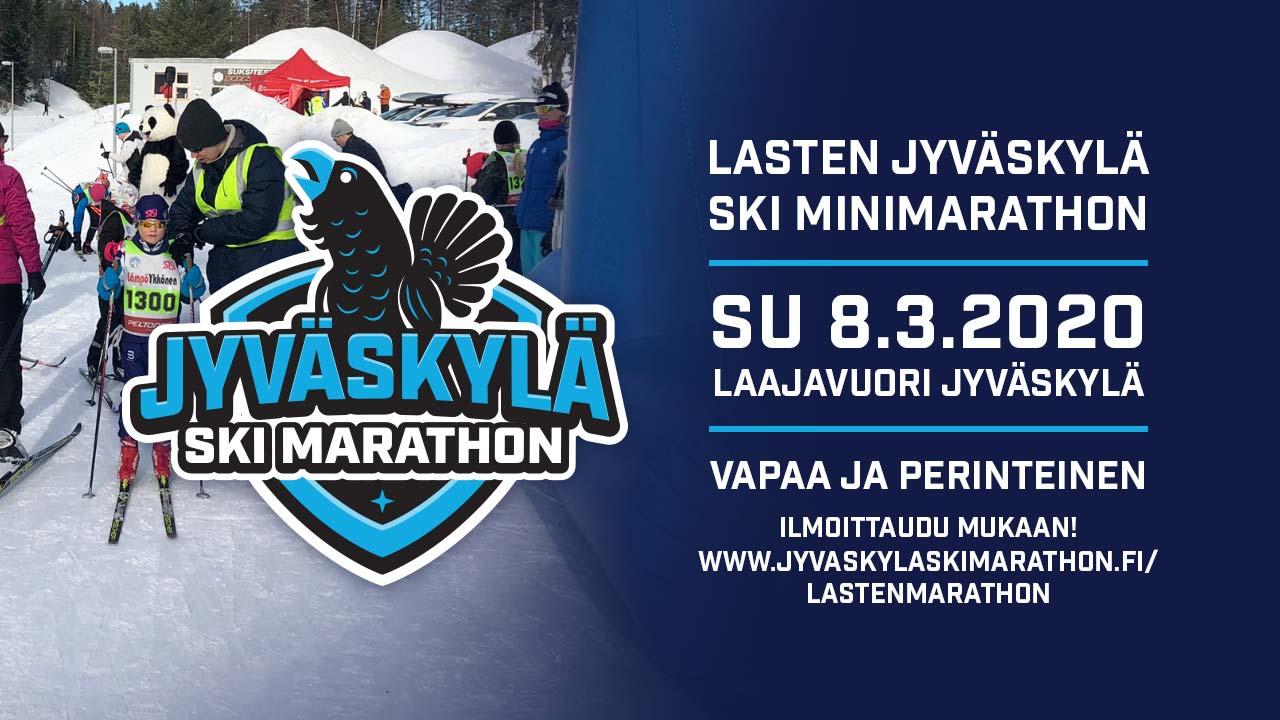 Lasten Jyväskylä Ski Minimarathon 8.3.2020 ilmoittautuminen avattu